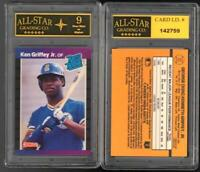 Ken Griffey Jr 1989 Donruss Rated Rookie Card #33 GRADED ASG 9 NM #C