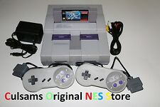 SUPER NINTENDO SNES SYSTEM CONSOLE COMPLETE WITH MEGA MAN X & GUARANTEE