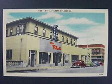 Hotel Pulaski Virginia VA Cars Linen Postcard 1940s Vintage Vtg