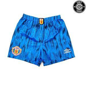 1992/93 MANCHESTER UNITED Vintage Umbro Away Football Shorts (S)