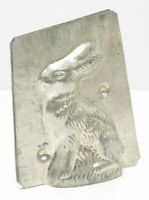 Vtg Seated Rabbit Hare Metal Chocolate Mold Candy Tin
