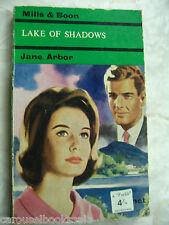 Lake of Shadows Jane Arbor Mills & Boon Vintage pb A87