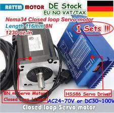 ACT Motor GmbH 1Axis Nema34 CNC Kit 34HS5460 6A 151mm 1700oz 4leads