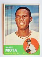 Manny Mota #141 Topps 1963 Baseball Card (Houston Colt .45s) VG