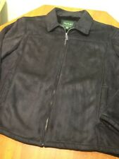David Taylor Collection size 3XL black faux leather look mens jacket coat