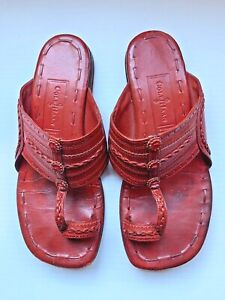 Vintage Rare Cole Haan RESORT Boho Water Buffalo Leather Sandals Sz 6.5 B