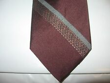 OAKTON 55 x 3 Burgundy Gray Stripe Necktie Tie (13032) Free US Ship