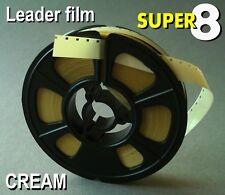 Super 8mm film CREAM Cine leader 50ft
