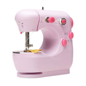 Desktop Sewing Machine Mini Electric Portable Hand Held Double Speed with Light