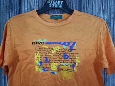 VINTAGE 90'S KENZO GOLF EMBROIDERY LOGO ORANGE T SHIRT S MADE IN JAPAN