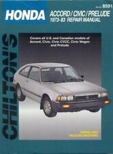 Honda Accord, Civic, and Prelude, 1973-83 (Chilton's Total Car Care-ExLibrary
