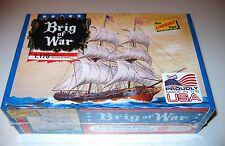 "USA made  BRIG OF WAR Ship Model Kit 1/170 scale 7"" Long NEW IN Sealed BOX"