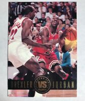 Clyde Drexler Michael Jordan 1993-94 Skybox Premium Showdown #SS11 Hard_8s_Magic