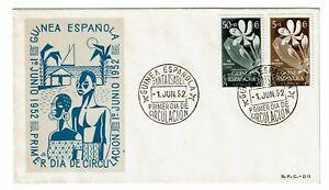 Spanish Guinea 1952 Semi Postal First Day Cover - Z217