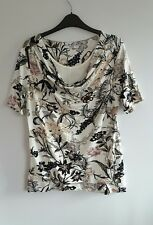 Gorgeous Floral Scoop Neck Frilled Top from George - Size 14 - BNWOT!