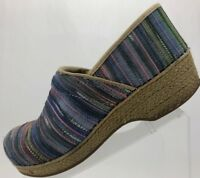 Dansko Clogs Fabric Nursing Shoes Professional Comfort Women's 9.5 Multicolored