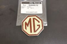 MG TF FRONT OR  REAR BADGE  GENUINE (DAB000160) FULL BADGE NOT A RUBBISH INSERT