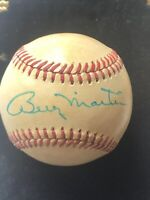 Billy Martin Autographed Baseball PSA LOA Included
