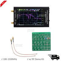 "4.3"" NanoVNA-F Vector Network Analyzer 10K-1500MHz+RF Demo Kit Button/Thumbwheel"
