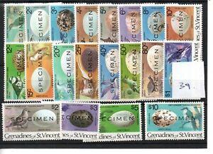 St. Vincent Grenadines (39) - 1978 - Birds - selection - mint - Specimen O'print