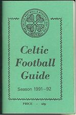 Celtic FC 'Wee Green Book' 1991-92 Football Guide