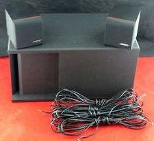 Bose Acoustimass 3 Series III Stereo Speaker System Passive Subwoofer (4) Cables