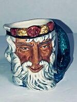 "Vintage Royal Doulton 2 1/4"" MiniI Toby Mug / Jug Neptune D6555 See pics!!"