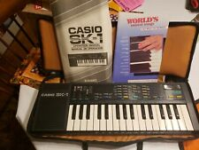 1985 Casio SK-1 Sampling Keyboard Synthesizer, with carrying case & Instructions