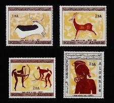 ALGERIA #365-368 Mint Lightly Hinged 1967 PREHISTORIC WALL PAINTINGS SCV $28.50