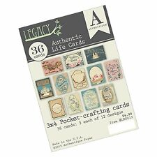 """Authentique Paper Legacy Authentic Life Cards for Pockets Crafting Pad, 3 x 4"""""""
