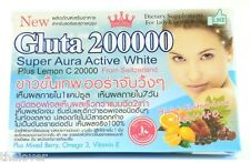 NEW Gluta 200000 super aura active white  ,lady gentlemen no side affect omeka 3
