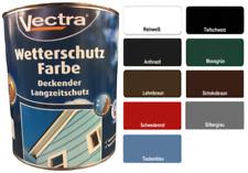 Vectra Wetterschutzfarbe 2,5 Liter - Farbe Holzfarbe Deckfarbe - Innen + Außen