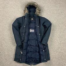 The North Face Metropolis Womens Down & Waterproof Jacket Blue Large Parka