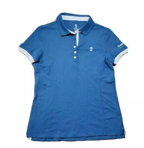Tredstep Ireland Ladies Short Sleeve Performance Polo Shirt Blue M Stretch