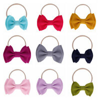 Baby Big Bow Headband Elastic Knotted Cotton Blend Hairband Hair Accessories--