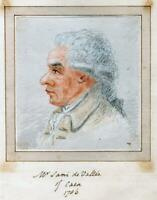 MR SAMI de VALLEE CAEN 1786 Original PORTRAIT PENCIL DRAWING France