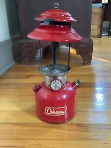 Vintage Coleman Red Lantern 1969 Model 200A No Globe