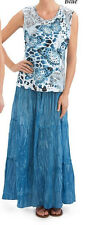 Womens Butterfly Top and Maxi Skirt Set Blue -2XL