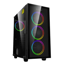 GameMax ATX Mid Tower A363-TA Gaming PC Desktop Computer Case W/ RGB LED Fans