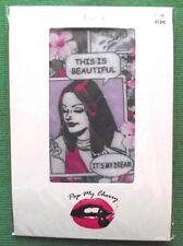 Vintage Comic Pop Mi Cherry Gótico Emo Tatuaje Calzas Pantimedias Medias G