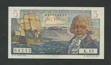 FRENCH EQUATORIAL AFRICA - 5 francs  1947  P20B  UNC  ( World Paper Money )