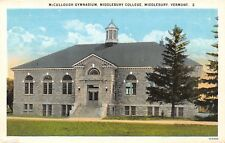 Middlebury College Vermont~McCullough Gymnasium Before Extensive Remodeling 1925