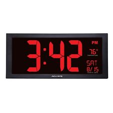 Big Digital Clock Wall Mount Large Red Number LED Display Date Visually Impaired