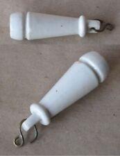ANTIQUE PORCELAIN PULL TOILET CISTERN HANDLE / 1920s