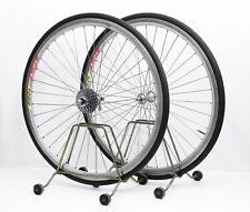 Campagnolo Record / Rigida DP 18 - vintage clinchers aero wheel set 8 speed