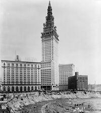 "Building Cleveland Union Terminal   Photo Print 11x14/"""