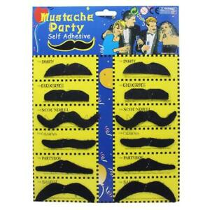Stick on fancy dress moustaches Tash Tashes Fake moustache Mexican lot beard