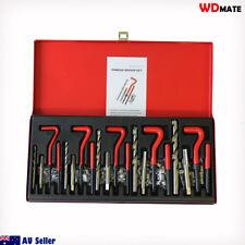 131pc Thread Repair Kit M5 M6 M8 M10 M12 Helicoil Twist Drill Bits Repair Garage