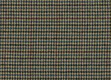 Paese Tessuto Tweed 100% Puro Lana Marrone Blu Beige Pied De Poule Ref 1818/33