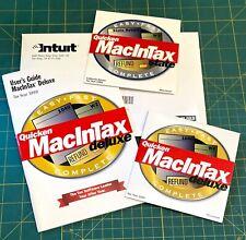 Intuit Quicken MacInTax Deluxe Complete 1999 Tax Year Mac federal CA TurboTax